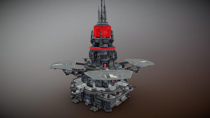 Planetside 2 Outpost Tower 3D Model