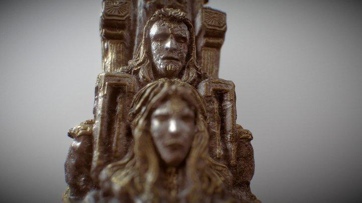 Man and Woman Ancient Artifact 3D Model