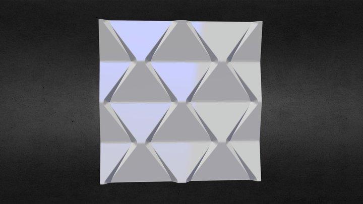 Euro D.V.S. - 3D панель «Пирамида» 3D Model