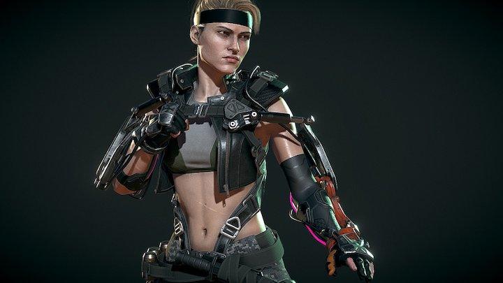 Sonya Blade 3D Model
