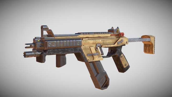 R99 from apex legends 3D Model
