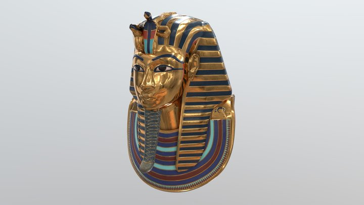 Tutankhamun Death Mask v2 3D Model