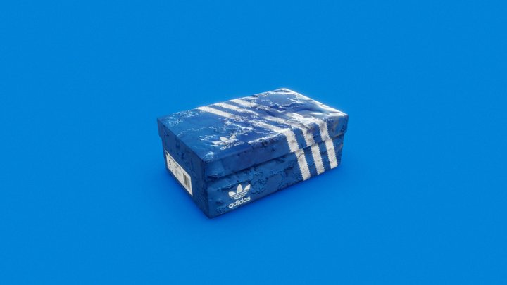 Rusty Adidas Shoe box 3D Model