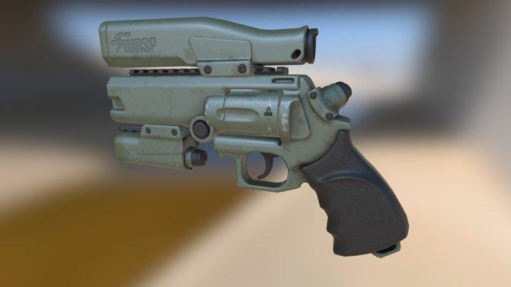 SN-9 WASP Revolver 3D Model