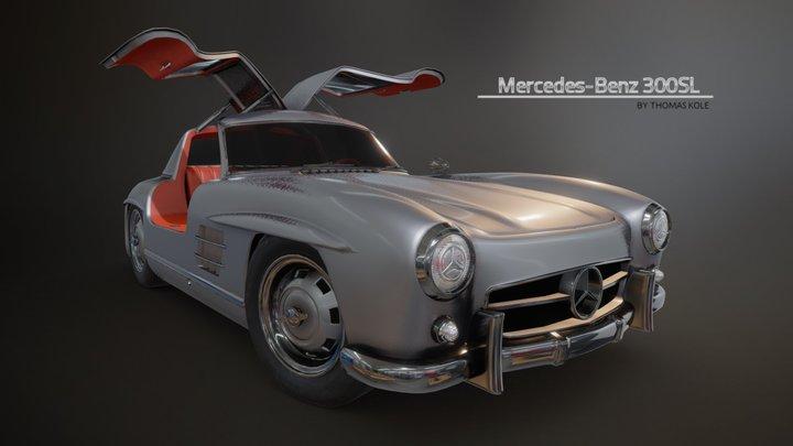 Mercedes 300SL Gullwing (no interior) 3D Model