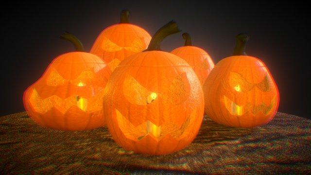 Halloween Jack-O-Lanterns 3D Model