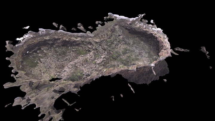 Collapsed Lava Tube 3D Model
