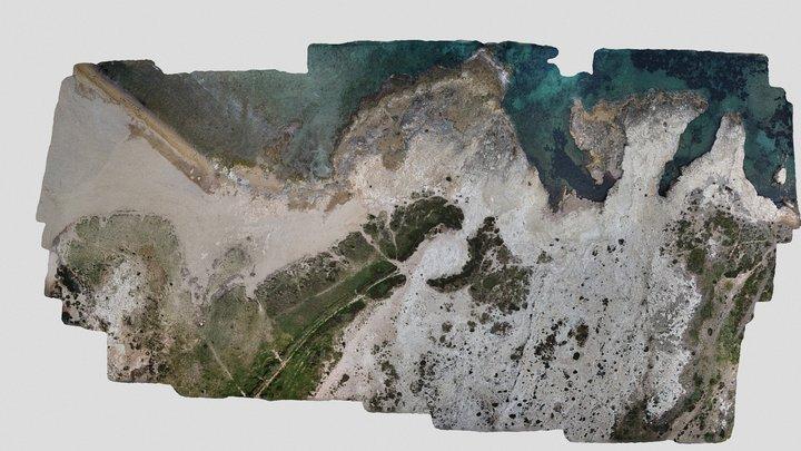 Fossil beach, Spain 3D Model