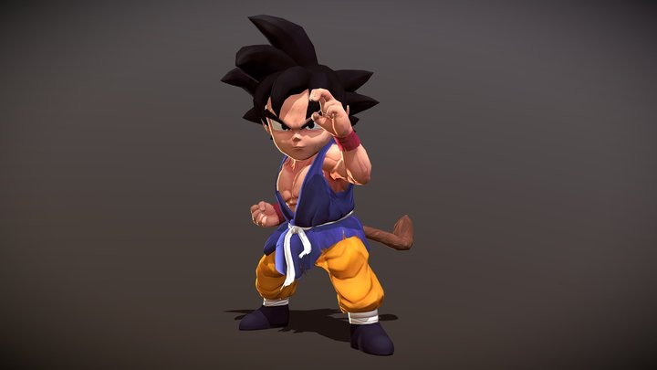 GokuGT 3D Model