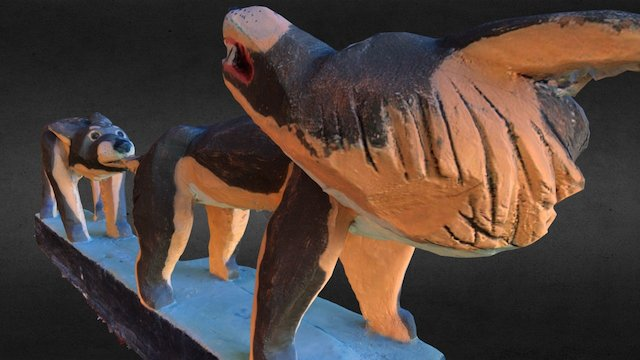 Wolfs - sculpture 3D Model