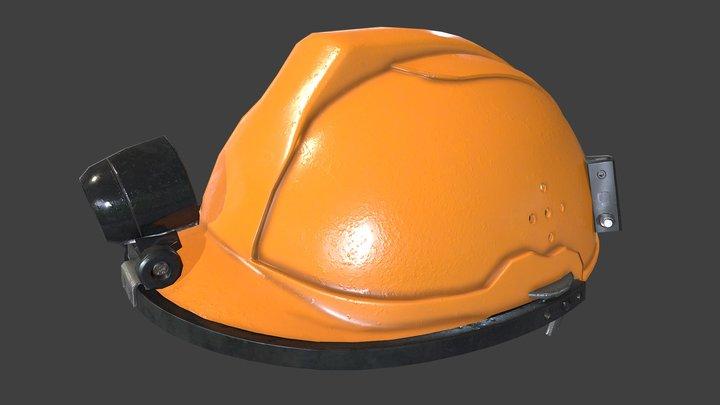 Construction Helmet (Orange) 3D Model
