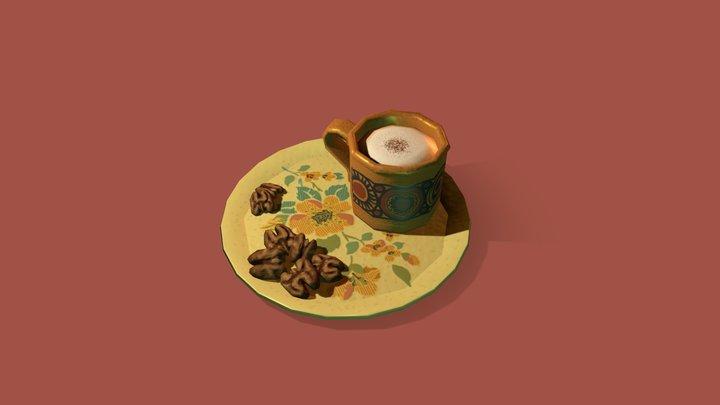Coffee & Walnuts 3D Model