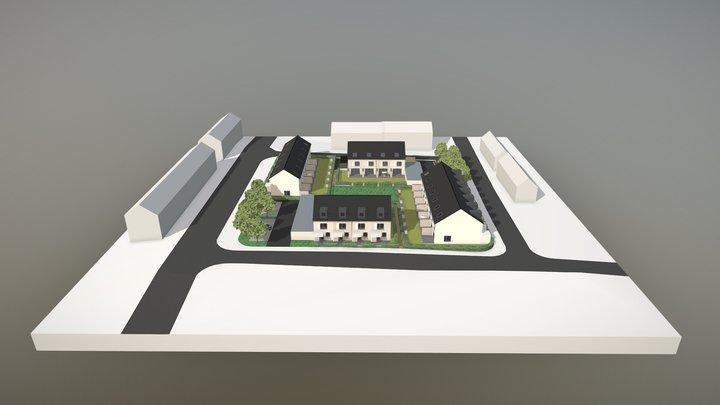 Reihenhaussiedlung 3D Model