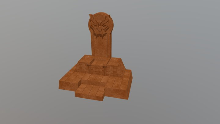 Black Panther Throne 3D Model