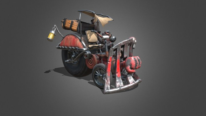 Steam Vagon 3D Model