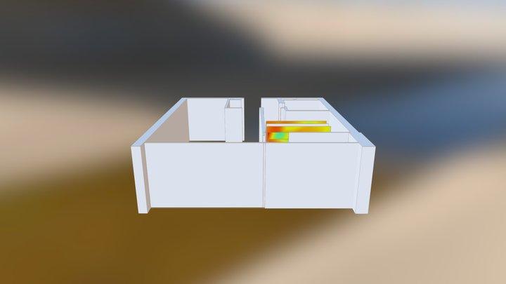 B15 bedroom Air Temperature 3D Model