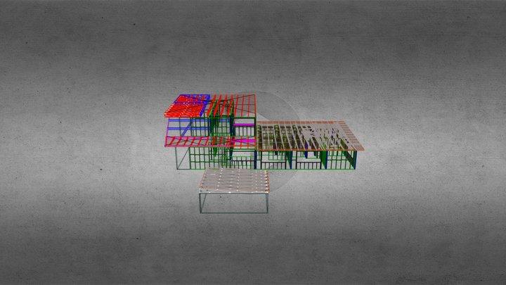 8 Birdwood Trusses 3D Model