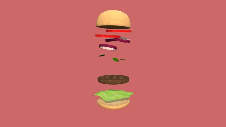 Sully's Pixel Challenge Submission-Pixel Burger 3D Model