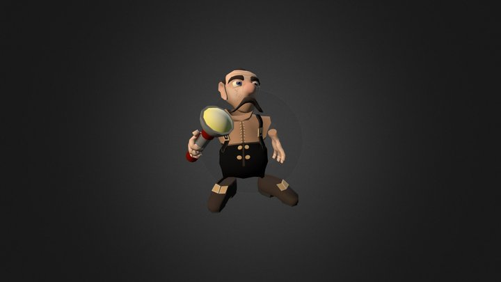 The Dark Night-Man 3D Model
