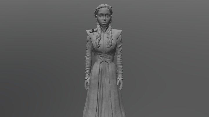 Daenerys Targaryen ready for 3D printing 3D Model