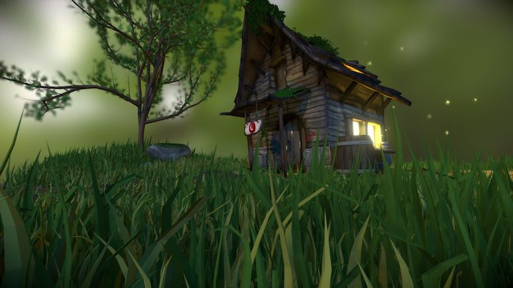 Old Tavern, 100% handpainted in Blender 3D Model
