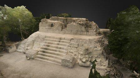 Jaguar Paw Temple - Guatemala (HD) 3D Model