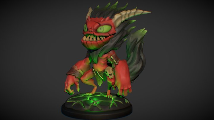 Demon Dude Christopher Hayes 3D Model