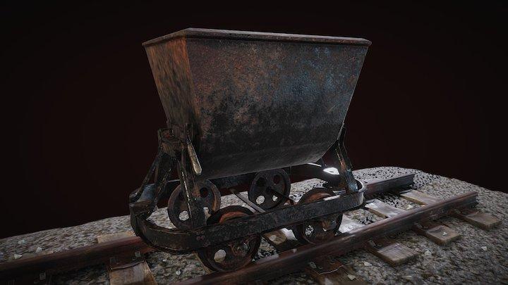 Minecart 3D Model