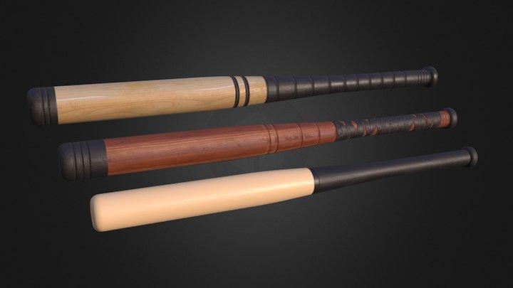 Baseball Bat – Pack 01 3D Model