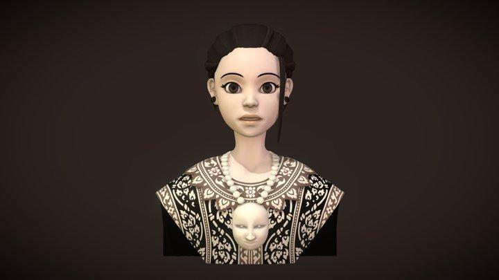 Thai folk dancer 3D Model