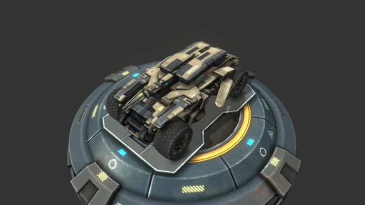 Ranger Vehicle : Mobile Game Ready Asset 3D Model