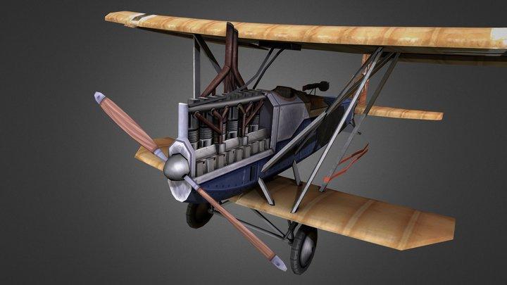 Junkers J.1 Stylized Plane 3D Model