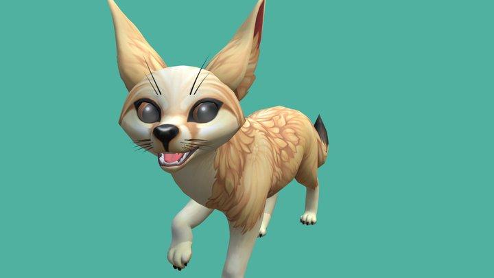 Fennec Fox 3D Model