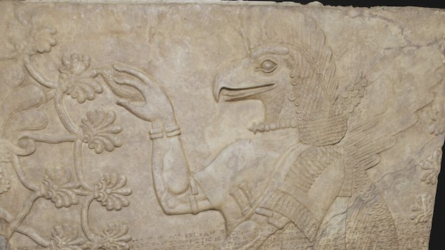Assyrian Genie Bas Relief 3D Model