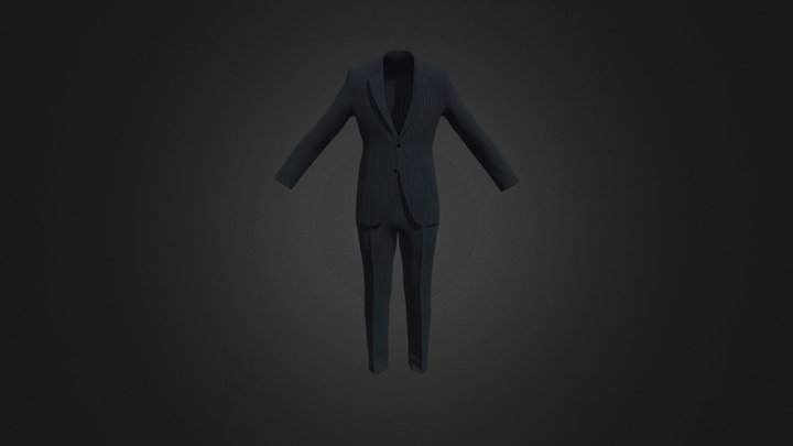 Men's Setup (Bluefin Stripe) 3D Model