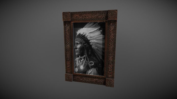 Wall Picture Low Poly 3D Model