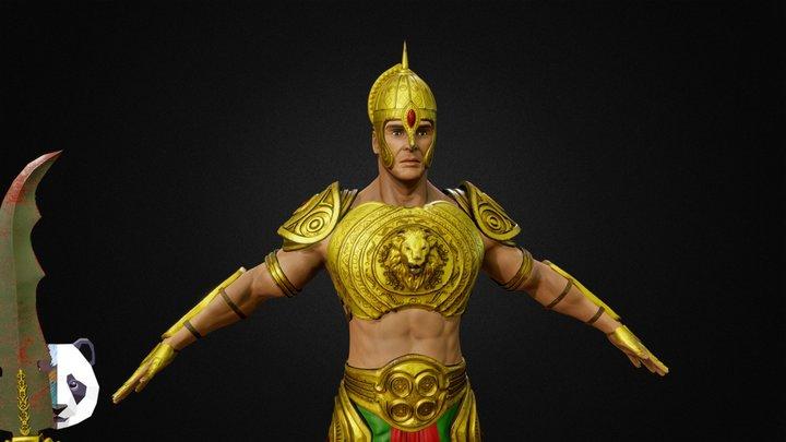 Ancient Indian Warrior 3D Model