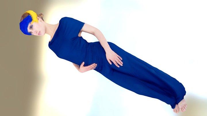 Blue Girl 3D Model