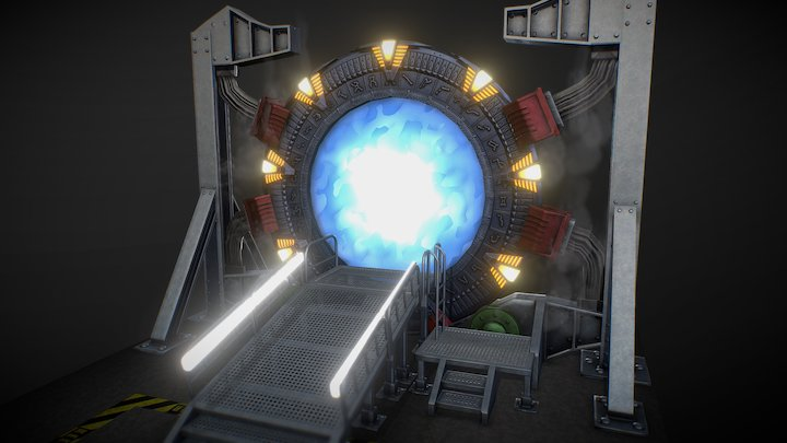 The Stargate from SG-1 (animation & sound) 3D Model