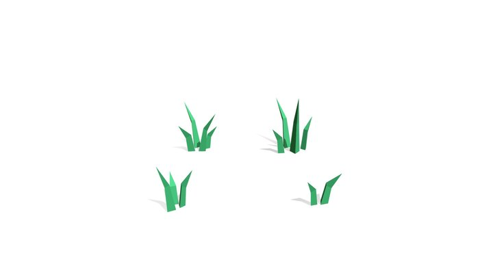 Low Poly Grass Pack 3D Model