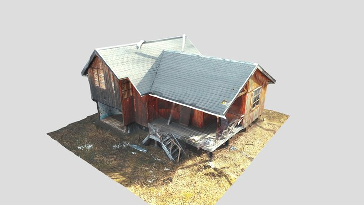 Cabaña en el Lago Pollux 3D Model
