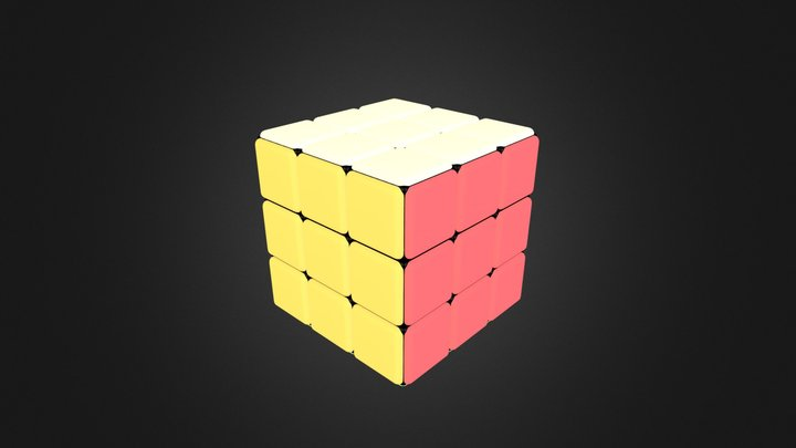 Rubicks Cube Self Illumination 3D Model