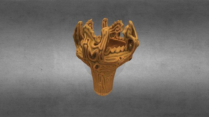 Jomon Flame Pot 3D Model