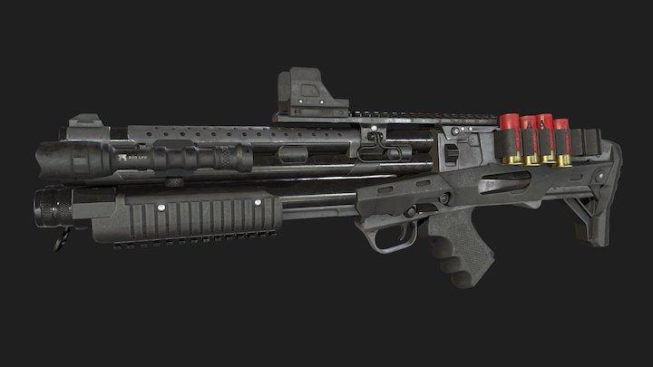 VC30 Sickle Shotgun 3D Model