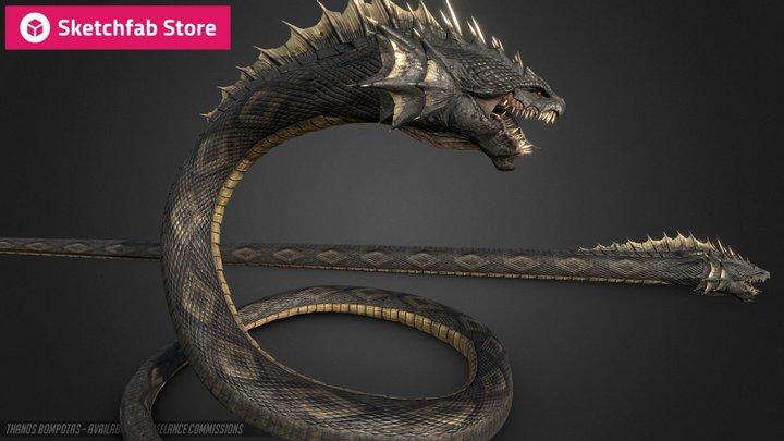Store Item: 25$ Snake Dragon - Hydra Head 3D Model