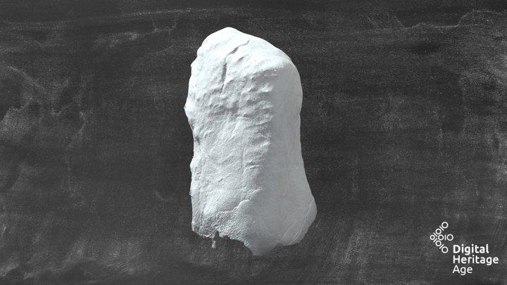 Rattan Standing Stone 3D Model