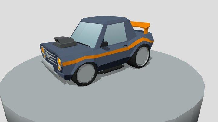 Little Race Car 3D Model