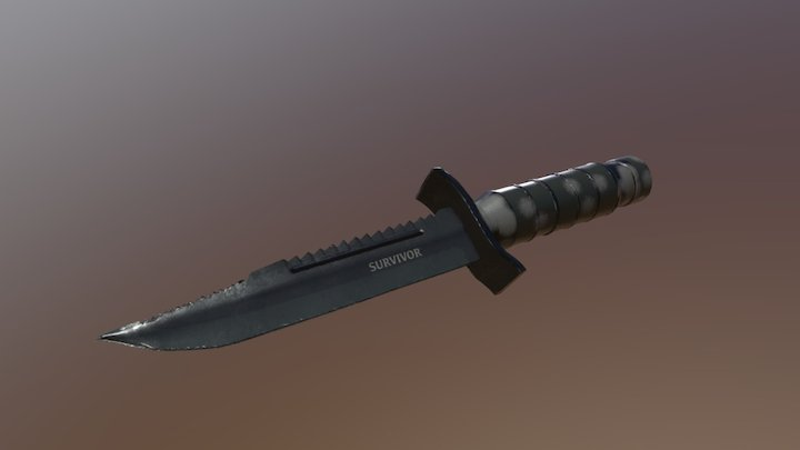 survival knife 3D Model