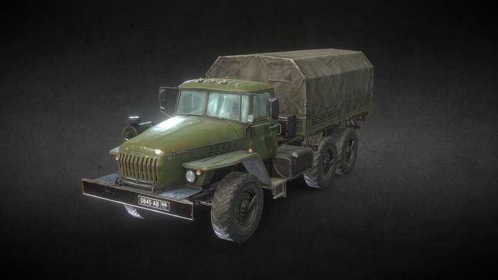 heavy army truck summer version (Russia) 3D Model