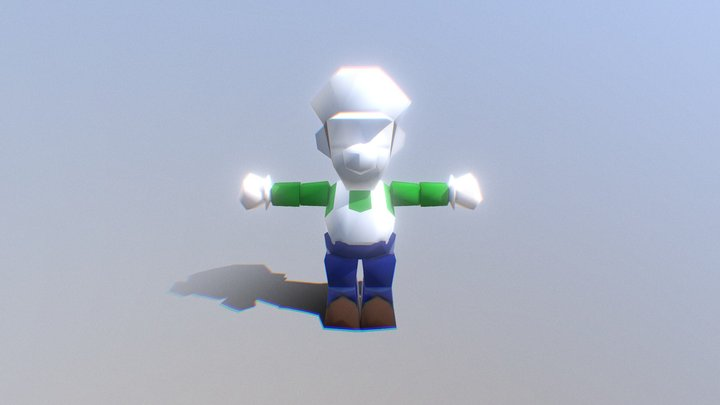 Nintendo 64 - Mario Golf - Luigi 3D Model